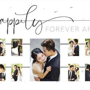 Happily Forever After Pallet Decor Photo Frame