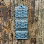 3 Pocket Mail Basket Gray