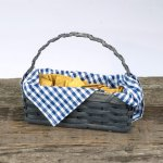 Cracker Basket with Handle Gray
