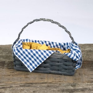 Cracker Basket with Handle Gray