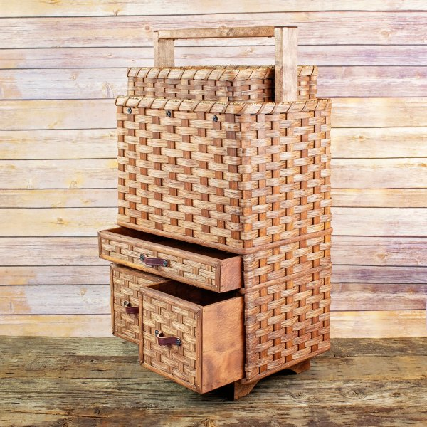 Craft Cart Basket Brown