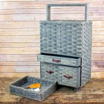 Craft Cart Basket Gray