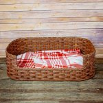 Large Dog Bed Basket Brown