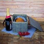 Lunch Box Basket Gray