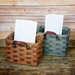 Large Mail Basket Gray
