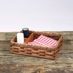 Napkin Salt Pepper Basket Brown