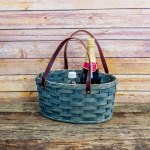 Medium Oval Market Basket Gray