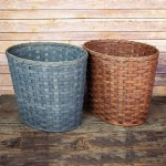 Large Oval Waste Basket Brown