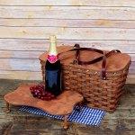 Medium Picnic Basket Tray Brown