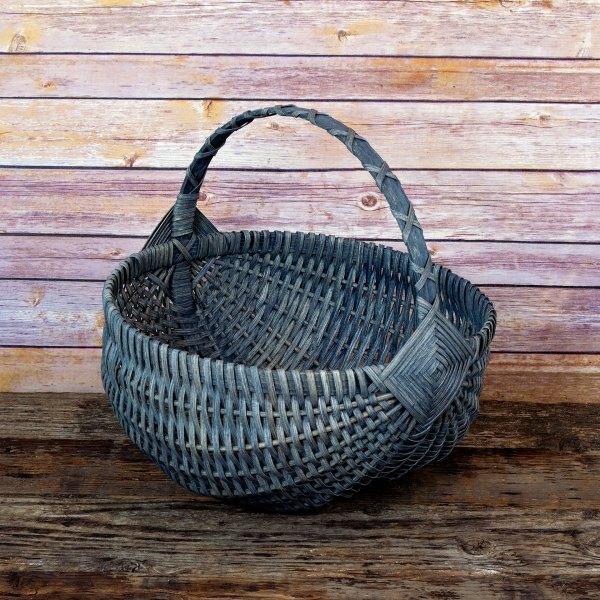 Large Regular Egg Basket Gray