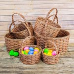 Extra Large Round Egg Basket Brown