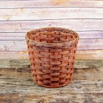 Medium Round Waste Basket Brown
