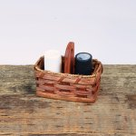 Salt and Pepper Basket Brown