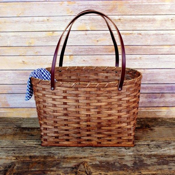 Large Shopping Bag Basket Brown