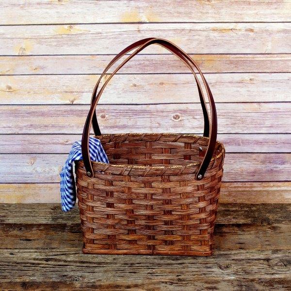 Medium Shopping Bag Basket Brown