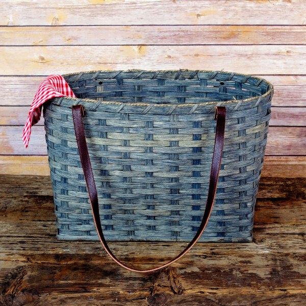 Large Shopping Bag Basket Gray