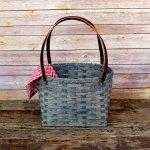 Medium Shopping Bag Basket Gray