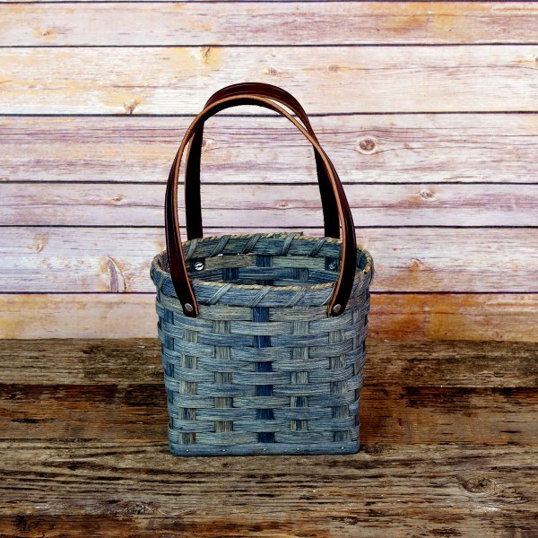 Small Shopping Bag Basket Gray
