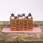 Silverware Basket Brown