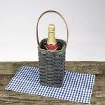 Single Wine Basket Gray