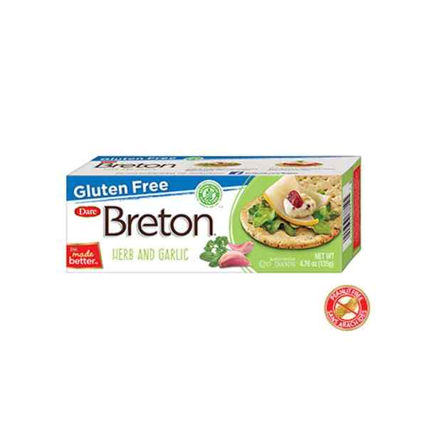Breton Gluten Free Garlic & Herb Crackers