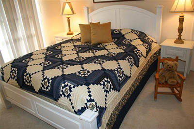 Amish Quilt Stars in Log Cabin