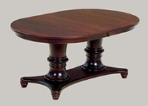Amish Woodbury Double Pedestal Dining Room Table
