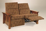 Amish McCoy Mission Recliner Loveseat with Power Option