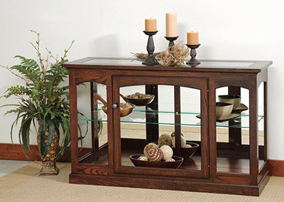 Amish Console Curio Cabinet