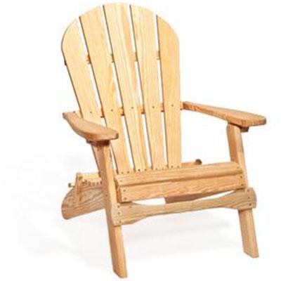 amish pine folding adirondack chair with optional ottoman