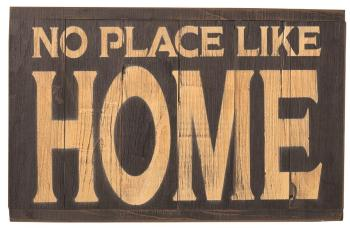American Made Rustic Wood Reminder - No Place Like Home