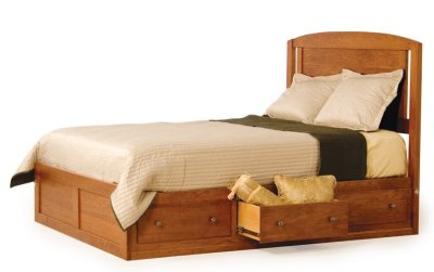 Amish Modern Platform Storage Bed