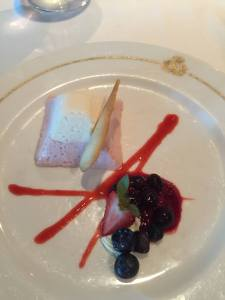 One of the many amazing dishes aboard the QM2.