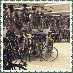 Delft Double Decker Bike Parking.