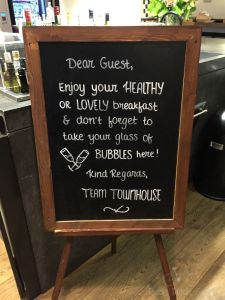 Townhouse Breakfast Sign