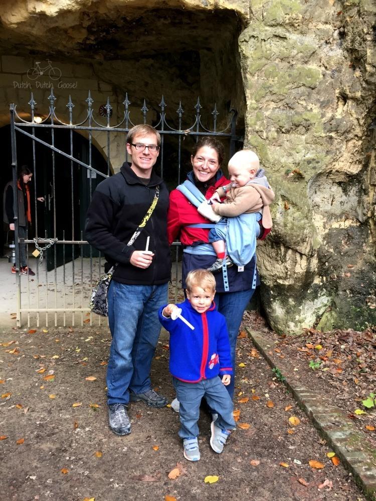 Family Photo at Valkenburg Caverns