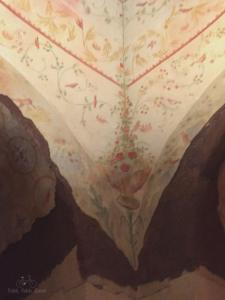 Painting detail in one of the catacomb rooms.
