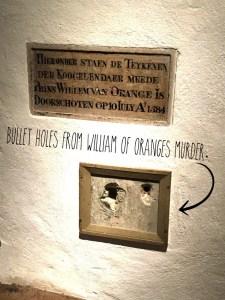 William of Orange Bullet Holes