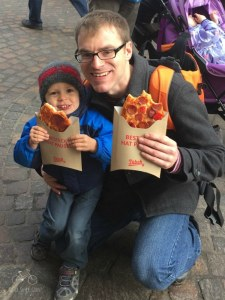 Street Pizza at Trier Christmas Market
