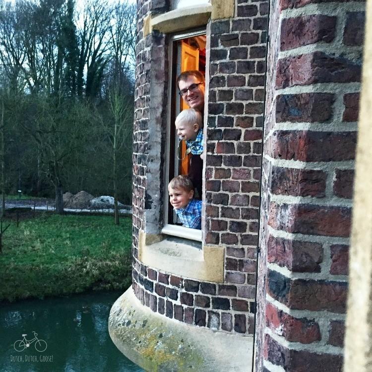 Kasteel Terworm Boys View the Moat