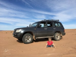 Playing in the Sand on the Sahara
