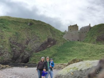 Dunnottar Castle View from Beach