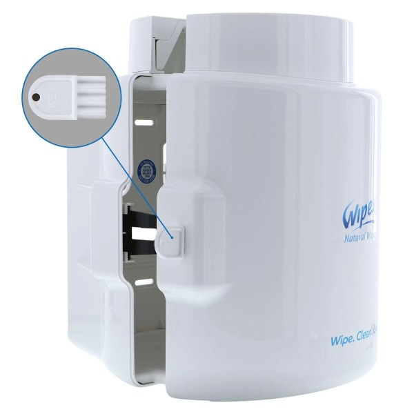 Wipex White Dispenser key lock