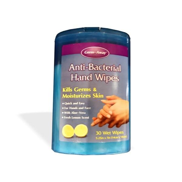 GermAway Antibacterial Hand & Face Wipes (30 ct)