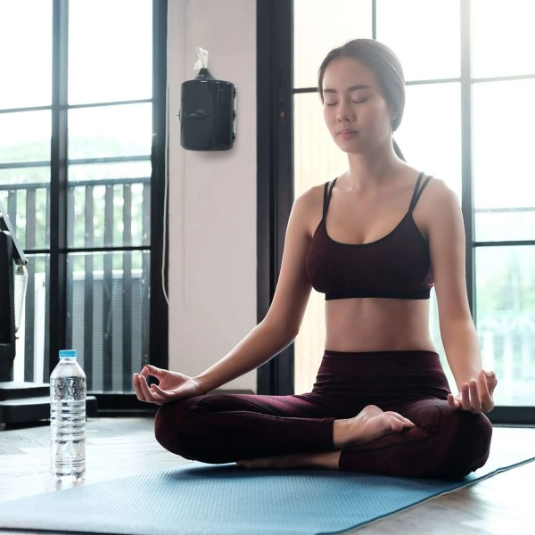 Wipex Gym Wipes dispenser used in yoga class