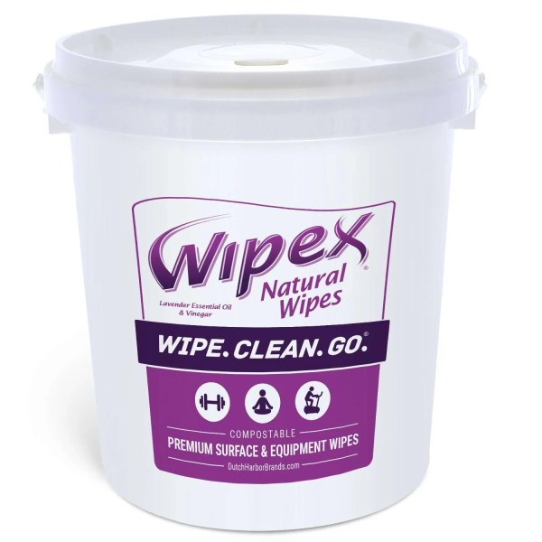 Wipex Surface and Equipment Wipes 400 count bucket lavender and vinegar