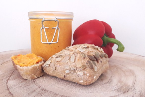 recept geroosterde paprika spread met feta