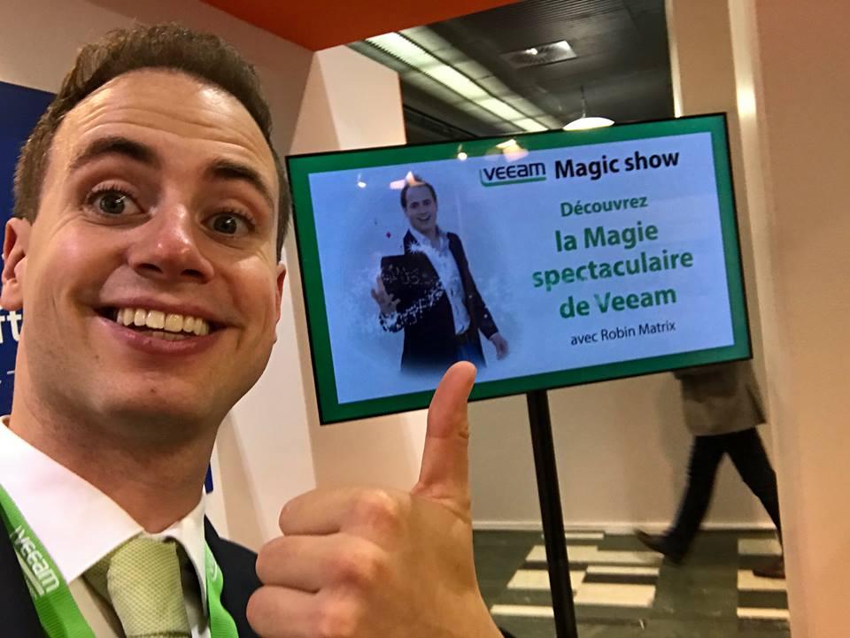 Beurs Magic door beursgoochelaar Robin Matrix
