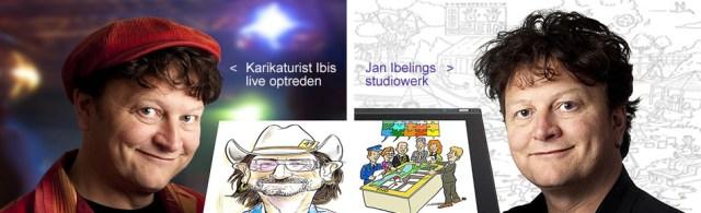 Karikatuurtekenaar Ibis - magic friends Dutchmagic