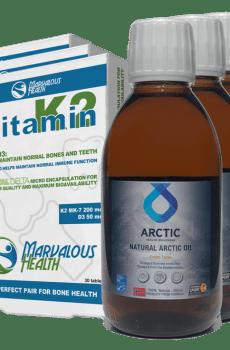 Combi 3+3 AHS Natural Arctic Oil + Vitamine K2/D3